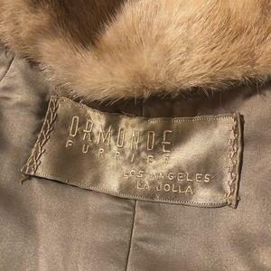 Vintage Jackets & Coats - Vintage mink shawl 100% genuine fur